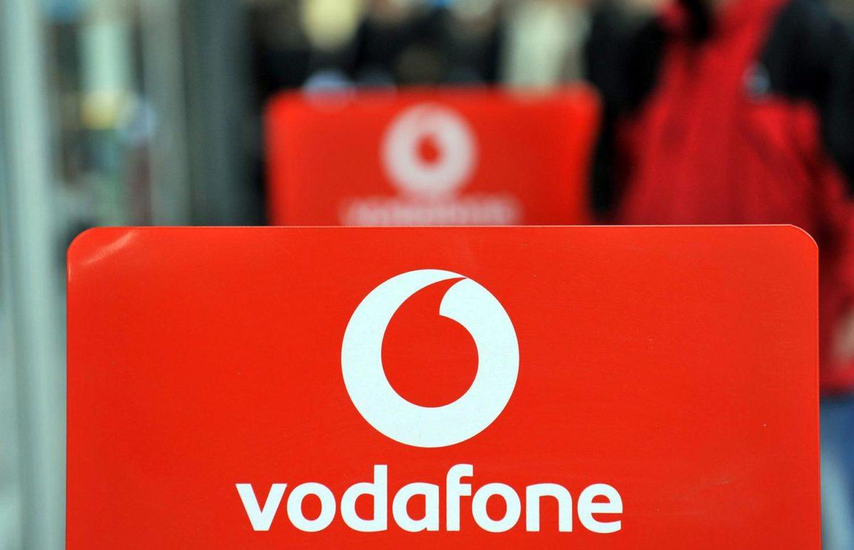 Das Logo meines neuen Telefonanbieters Vodafone. (Foto: Thorsten Claus)