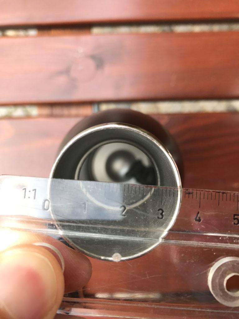 Durchmesser der Flsk Flasche. (Bild: Thorsten Claus)