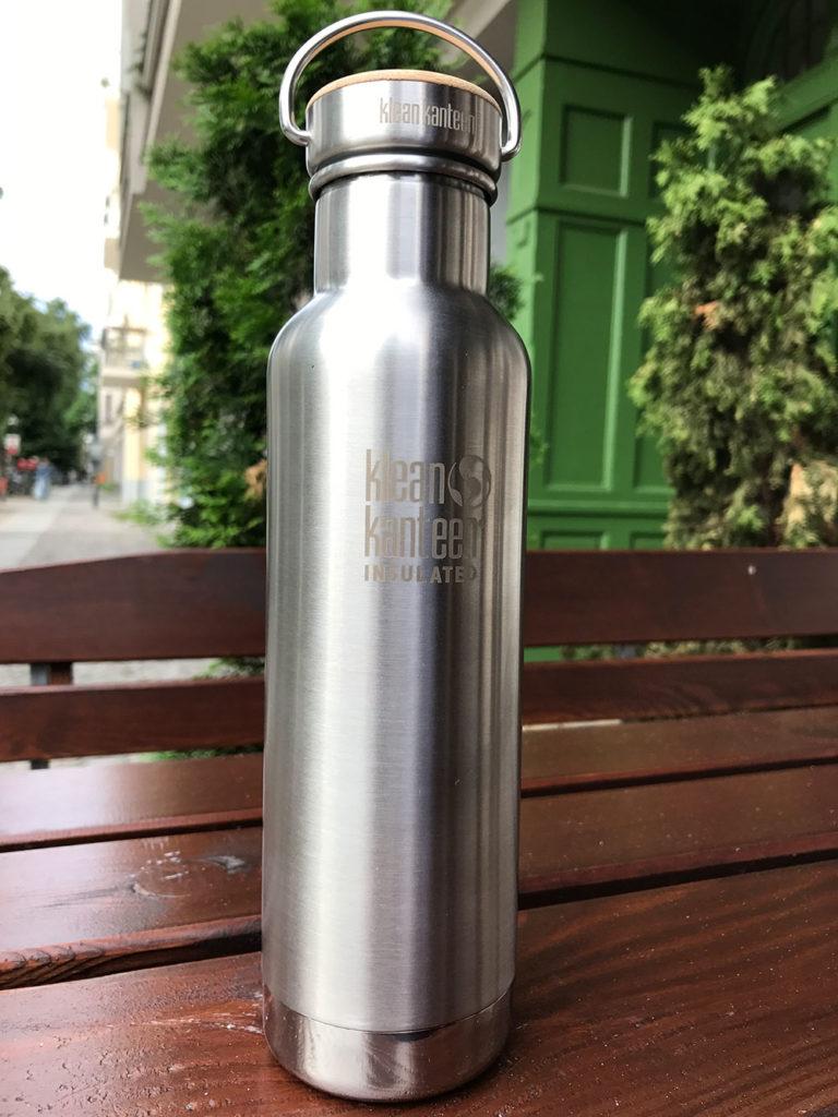 Die 592 ml (20 oz) fassende Flasche Reflect Vacuum Insulated von Klean Kanteen. (Bild: Thorsten Claus)