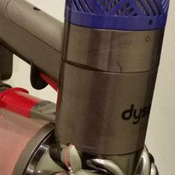 Das verwendete Plastik des Dyson v6 Total Clean wirkt marmoriert.(Foto: Thorsten Claus)