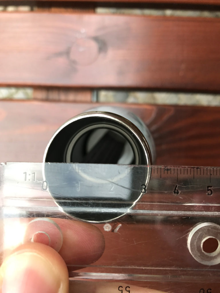 Durchmesser der S'well Flasche. (Bild: Thorsten Claus)